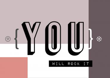 YOU will rock it